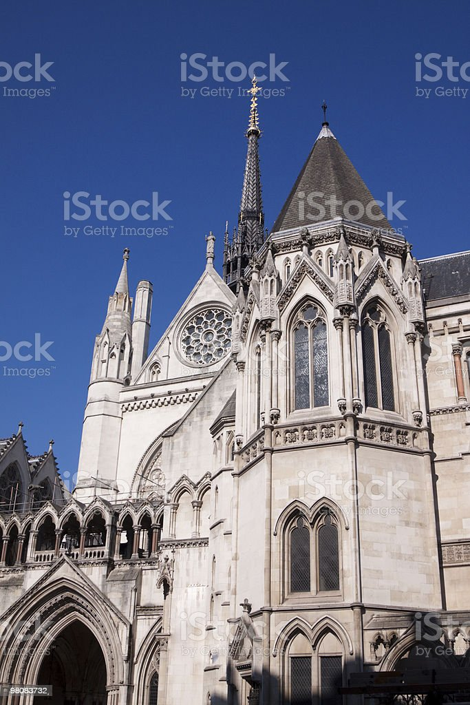 Royal Courts of Justice in London, England royalty-free stock photo