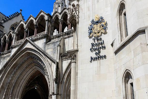 royal courts of justice em londres - alto descrição geral - fotografias e filmes do acervo
