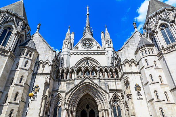 Royal Courts of Justice in London Exterior of the Royal Courts of Justice in London, commonly called the Law Courts central london stock pictures, royalty-free photos & images