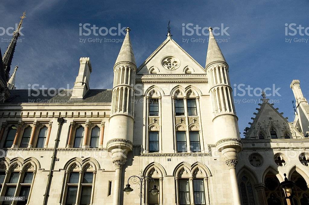 Royal Courts of Justice London royalty-free stock photo