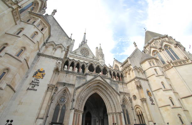 Royal Courts of Justice London UK stock photo