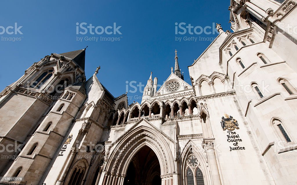 Royal courts of Justice stock photo