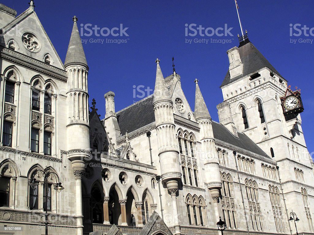 Royal Courts of Justice (London) royalty-free stock photo