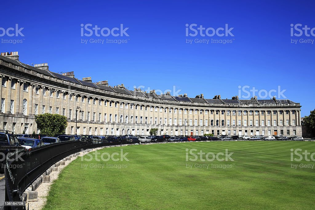 Royal Crescent, Bath stock photo