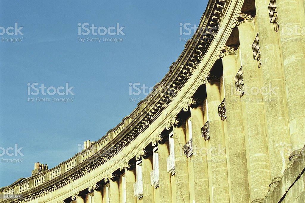 Royal Crescent in Bath, Avon, England royalty-free stock photo