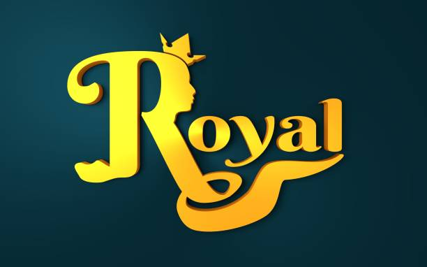 Royal Crown Logo Stock Photo