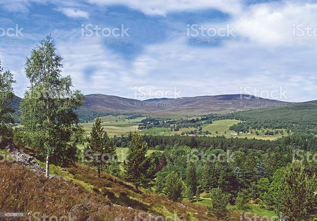 Royal Deeside Near Aberdeen Scotland stock photo