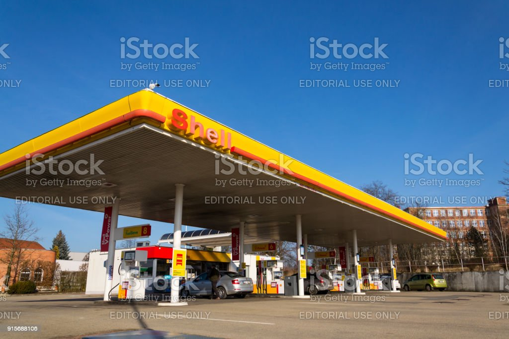 Royal Dutch Shell International Oil And Gas Company Logo On