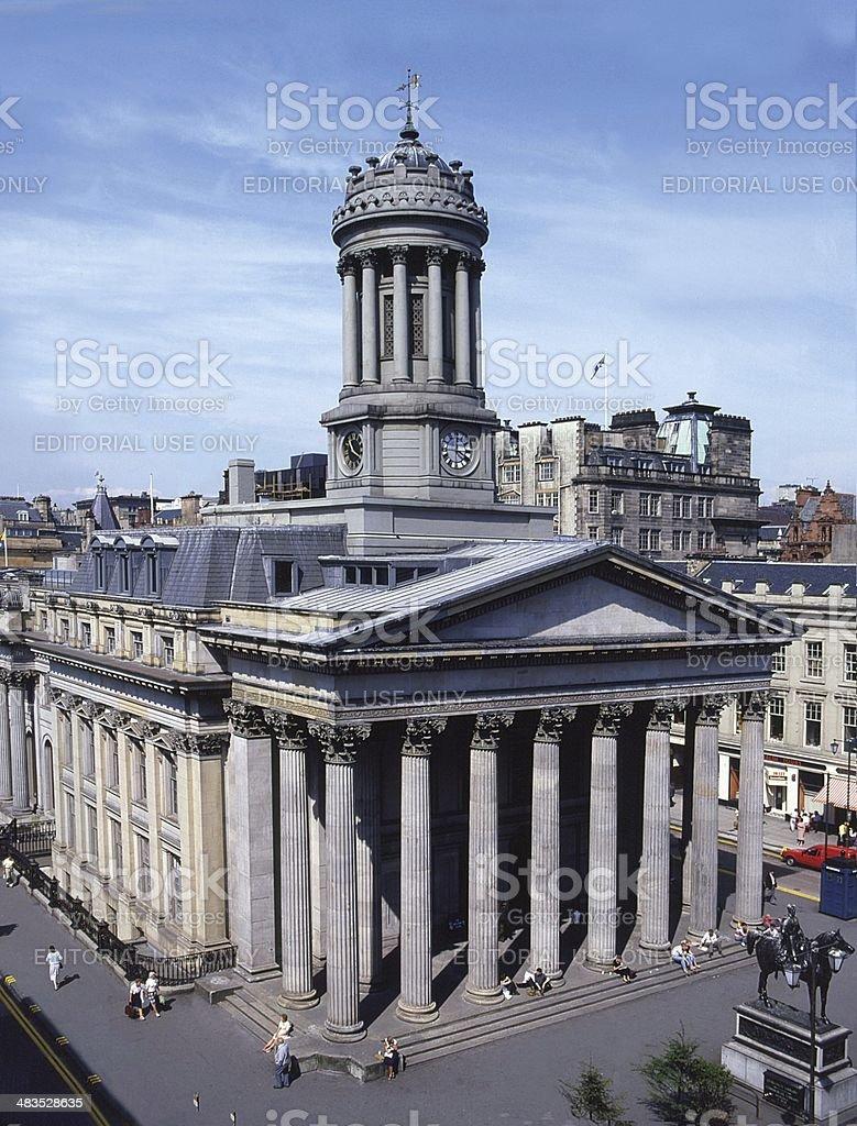 Royal Exchange Glasgow Scotland stock photo