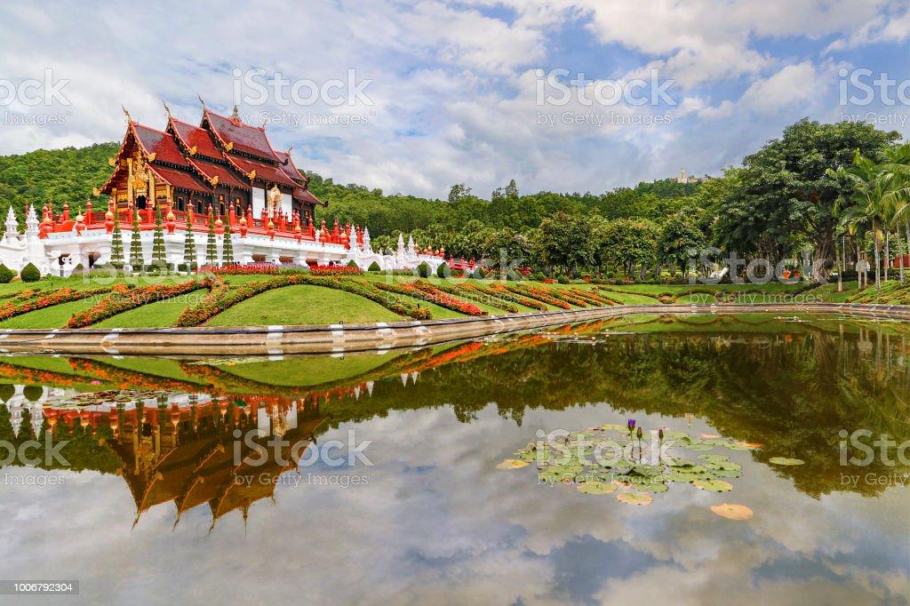 Royal flora park known also as Park Rajapruek, in Chiang Mai, Thailand stock photo