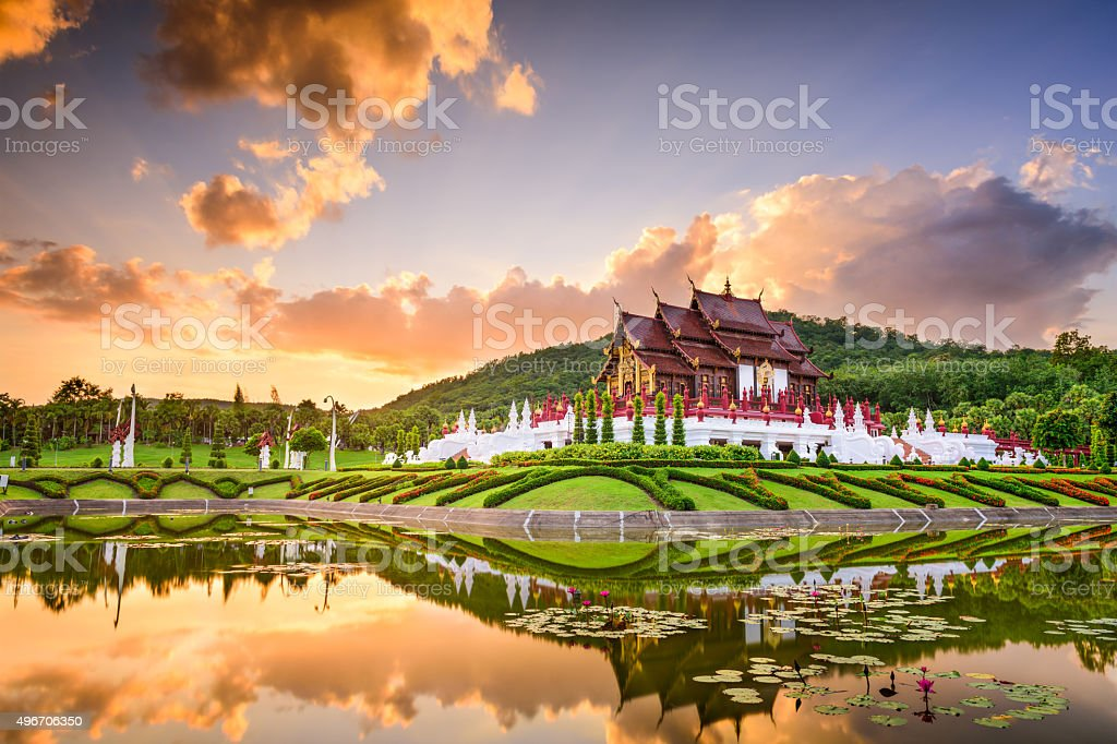 Royal Flora Park of Chiang Mai stock photo