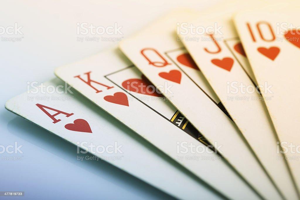 Royal Flush of Hearts royalty-free stock photo