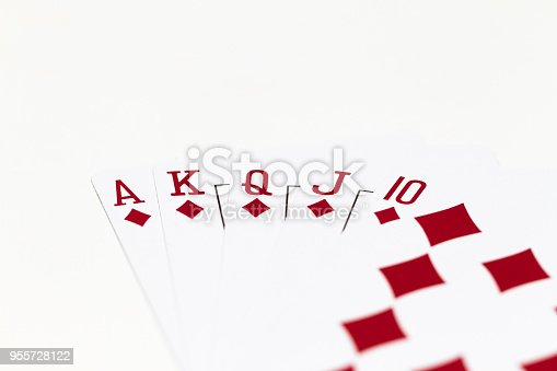 isolated playing cards