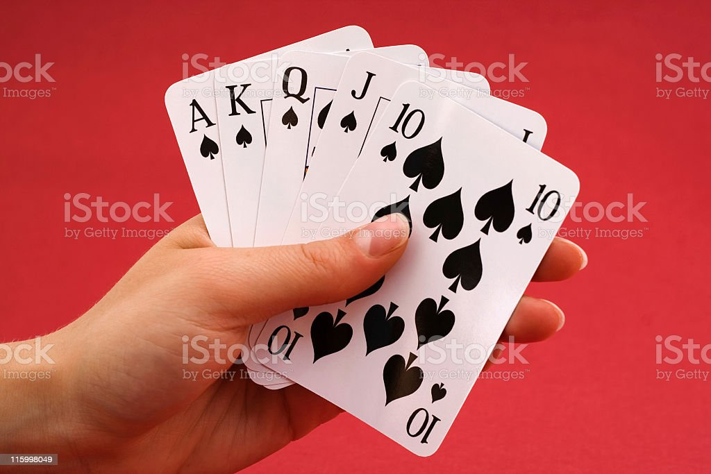 Royal Flush Spades stock photo