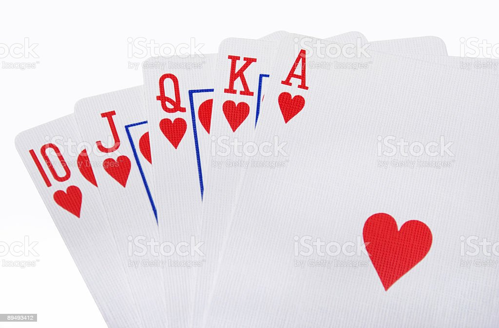 Royal Flush with path royalty-free stock photo