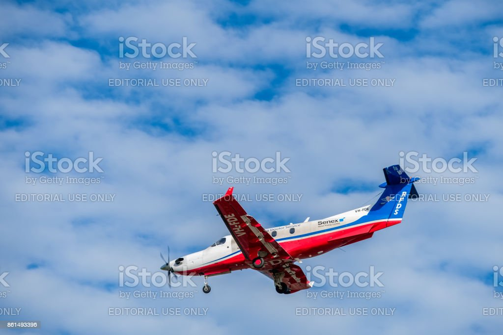 Royal Flying Doctor Service aircraft stock photo