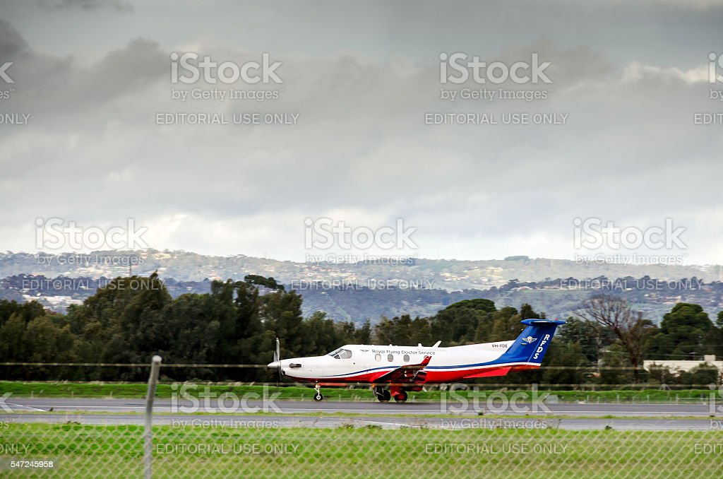 Royal Flying Doctor Service plane stock photo