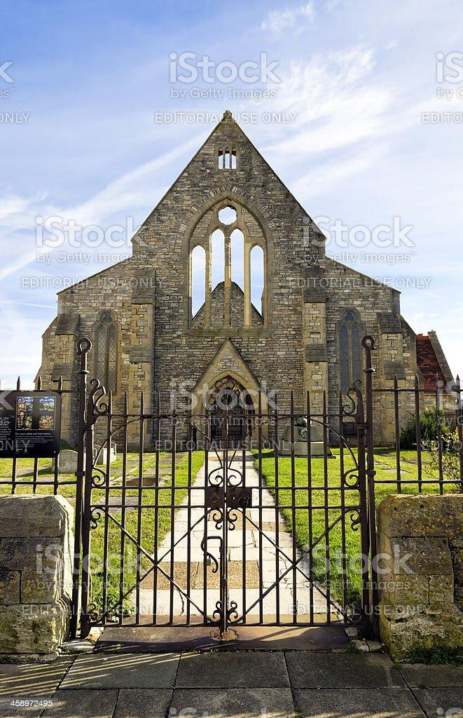Royal Garrison Church, Old Portsmouth stock photo