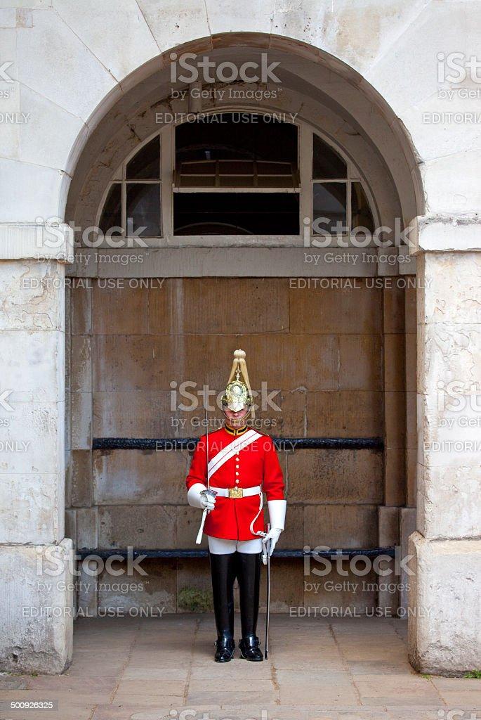 Royal Guard in London stock photo