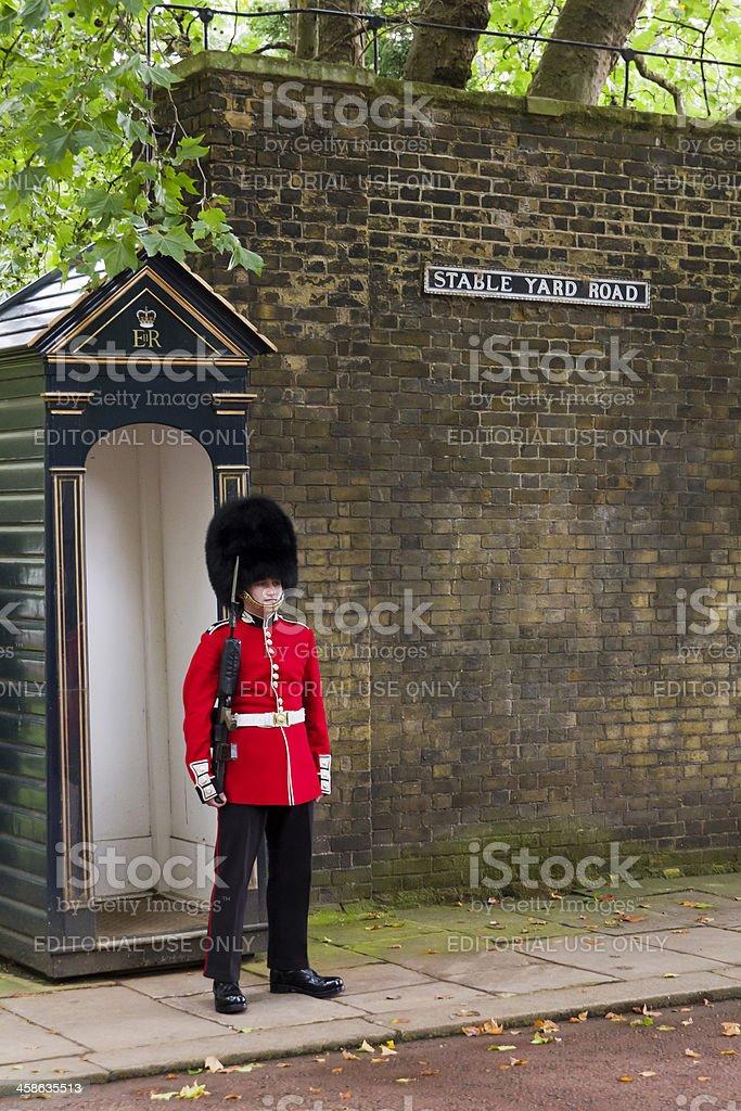 Royal Guard London Stable Yard royalty-free stock photo