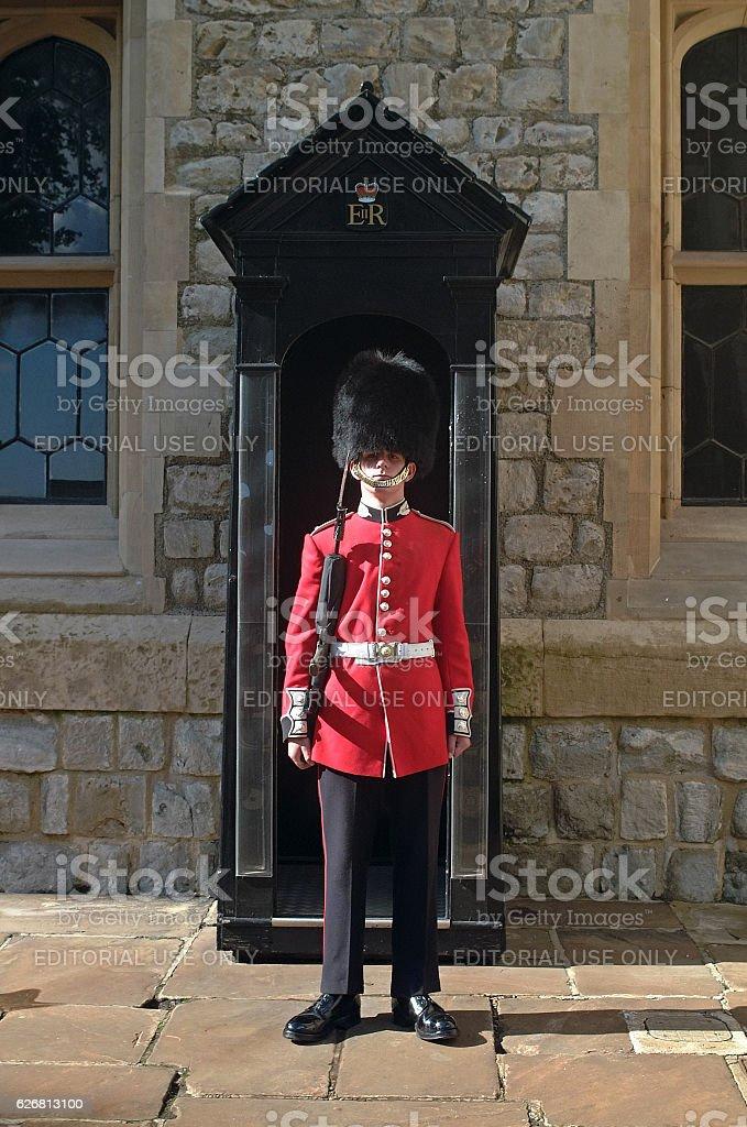 Royal Guard, London UK stock photo