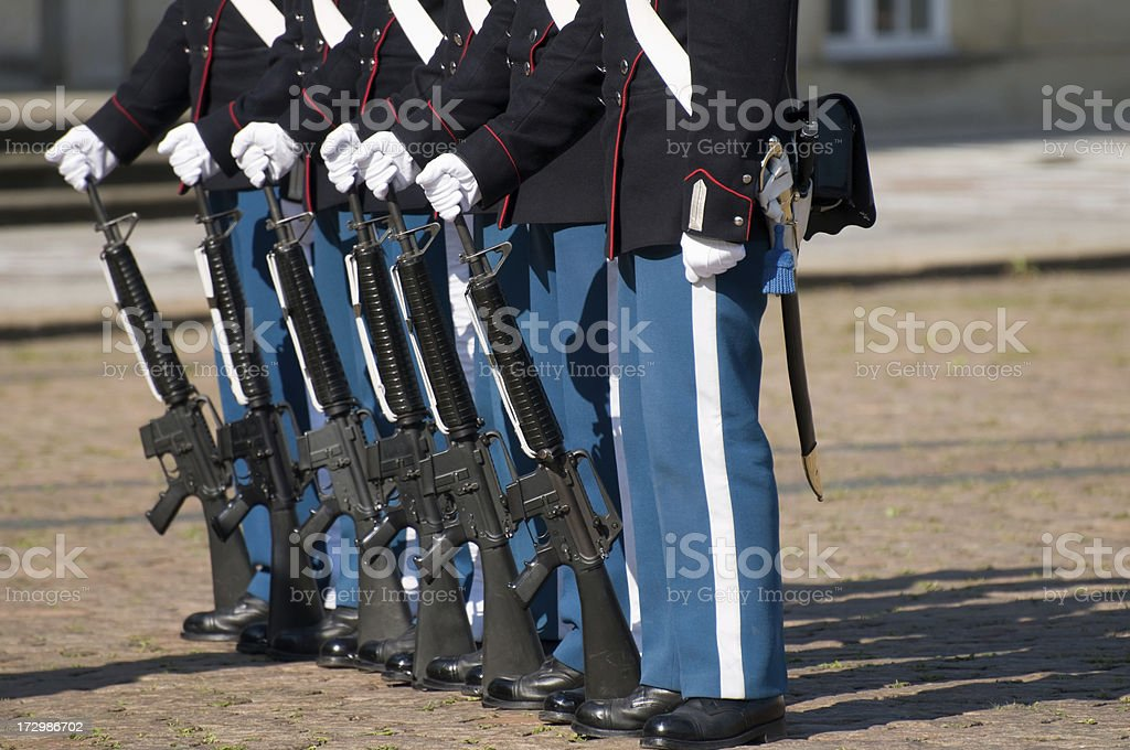 Royal guards changing. royalty-free stock photo