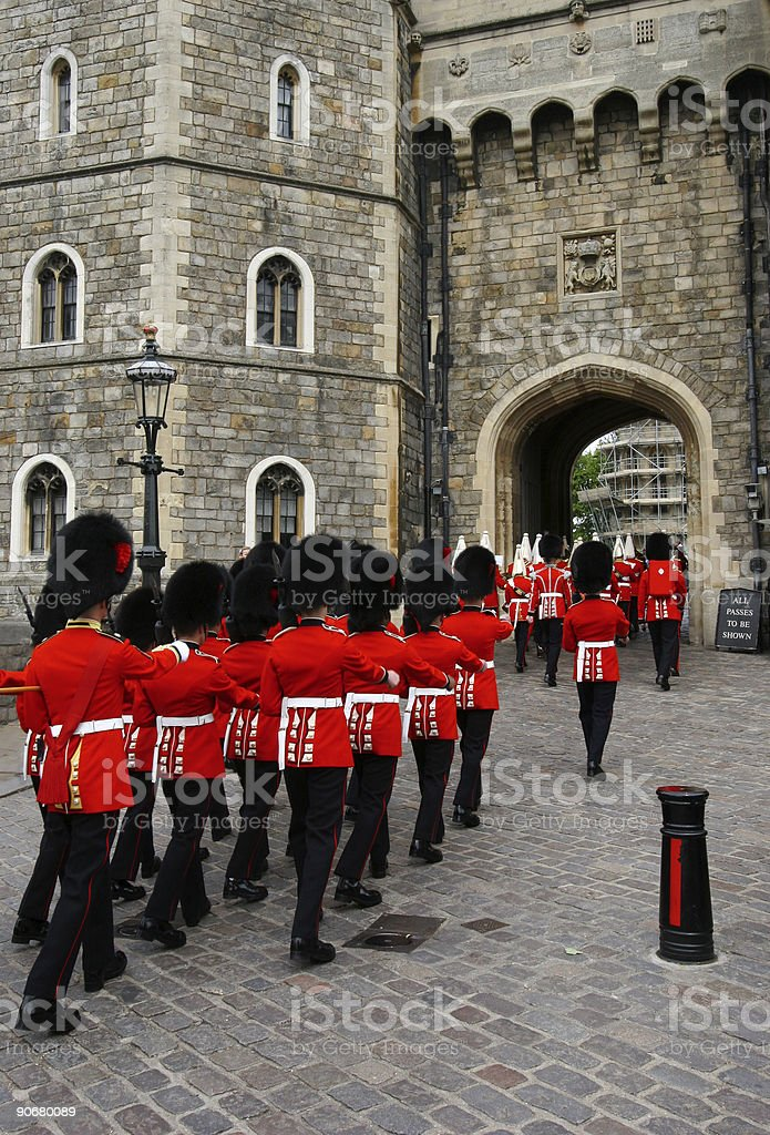 Royal guards stock photo