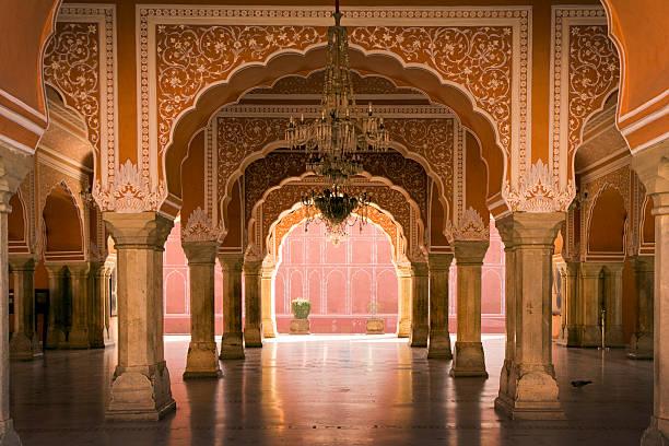 royal hall in jaipur palace, india - palats bildbanksfoton och bilder