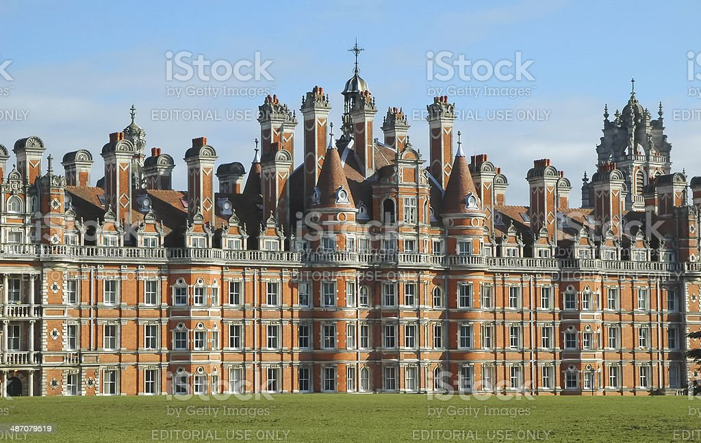 royal holloway building stock photo