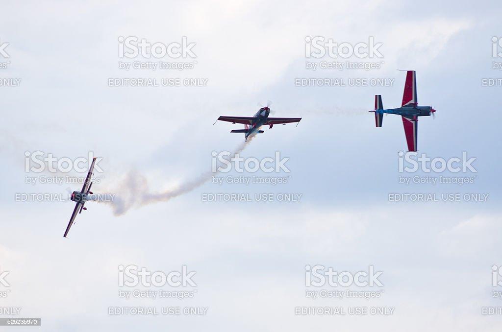 Royal Jordanian Falcons on Radom Airshow, Poland stock photo