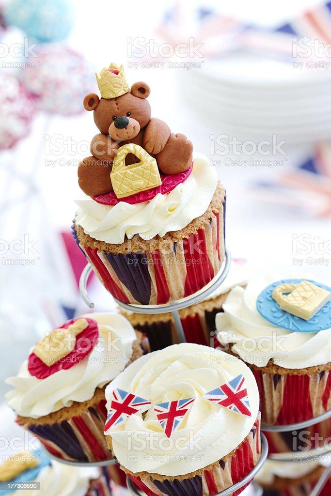 Royal Jubilee cupcakes royalty-free stock photo