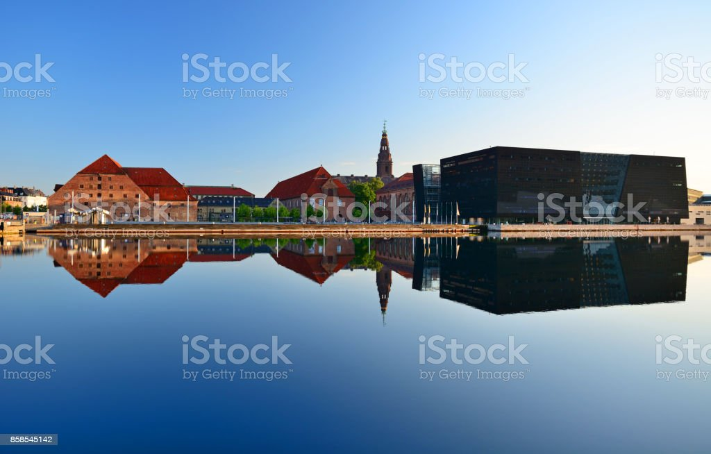 Royal Library in Copenhagen stock photo