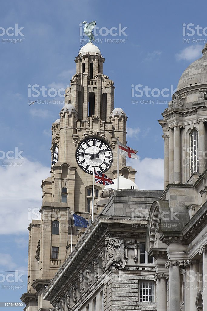 Royal Liver Building - Liverpool England royalty-free stock photo