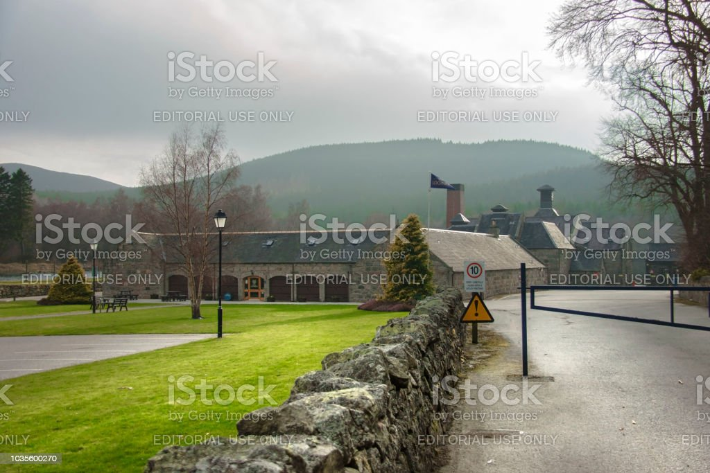 Royal Lochnagar distillery. Scotland. stock photo