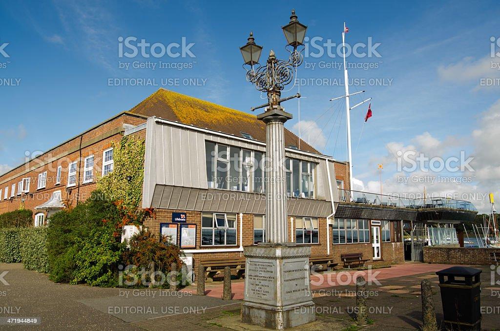 Royal Lymington Yacht Club, Hampshire stock photo