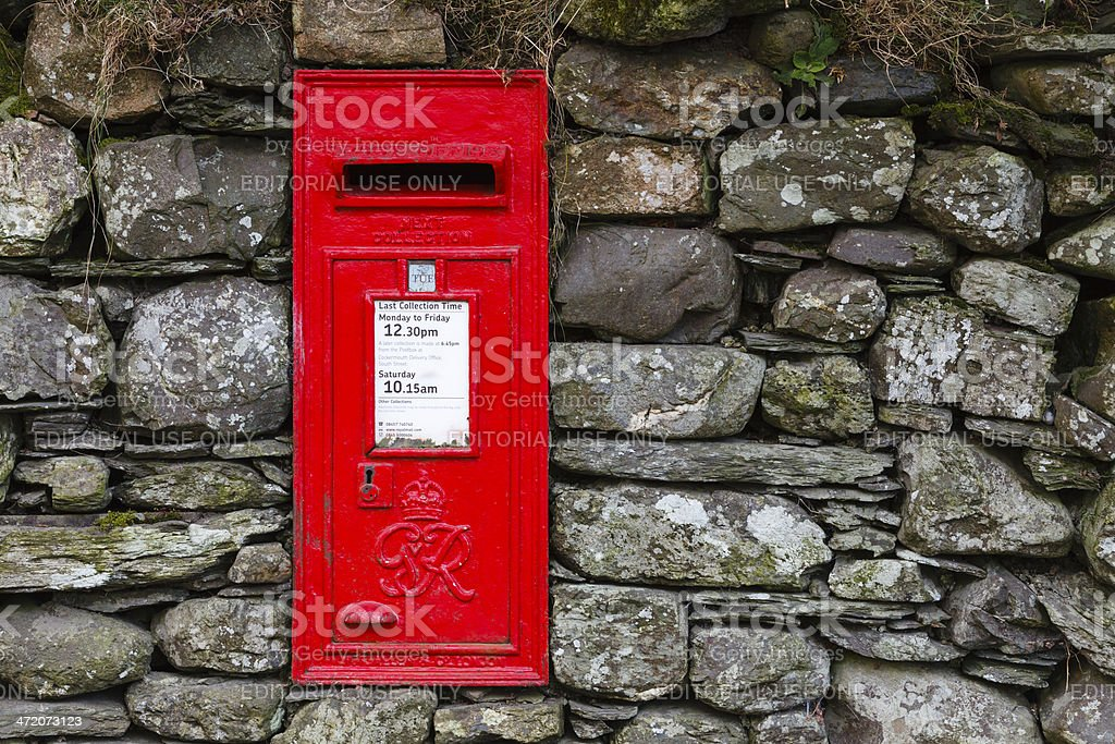 Royal Mail Letterbox stock photo