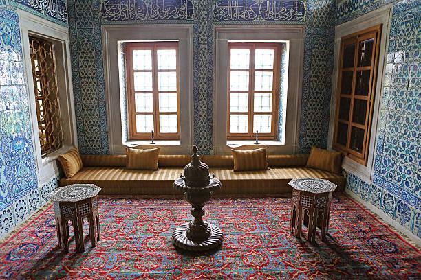 Royal Mansion Interior stock photo