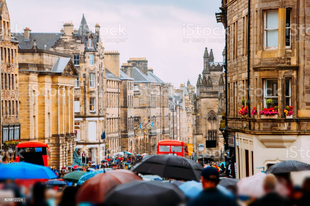 Royal Mile, Edinburgh stock photo