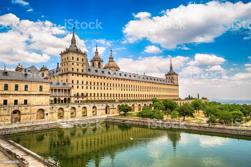 Royal Monastery of San Lorenzo de El Escorial, Madrid, Spain stock photo