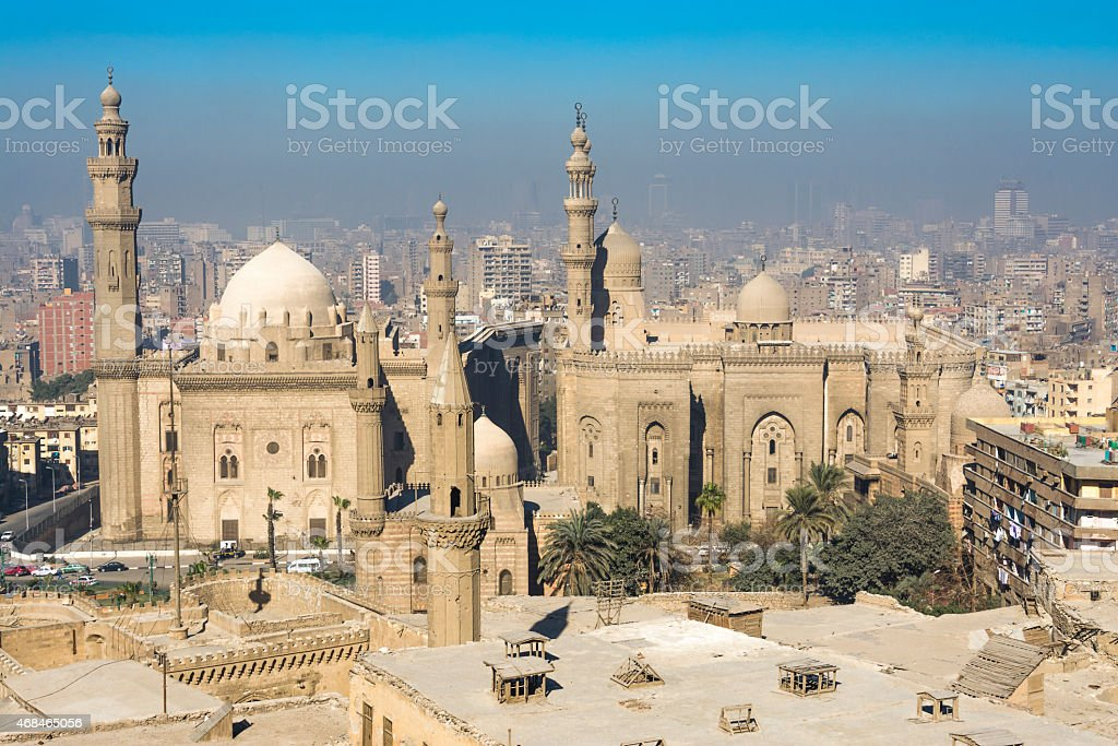 Royal Mosque and Mosque-Madrassa of Sultan Hassan, Cairo (Egypt) stock photo