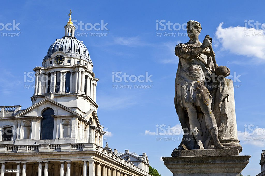 Royal Naval College in Greenwich, London royalty-free stock photo