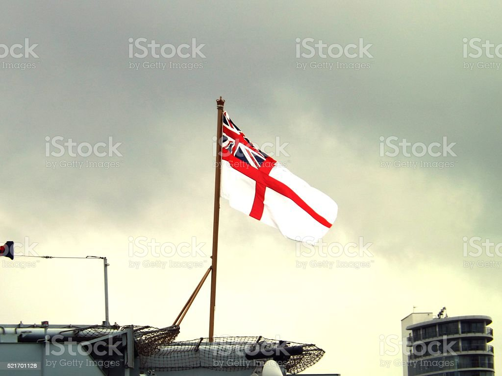 Royal Navy Ensign stock photo