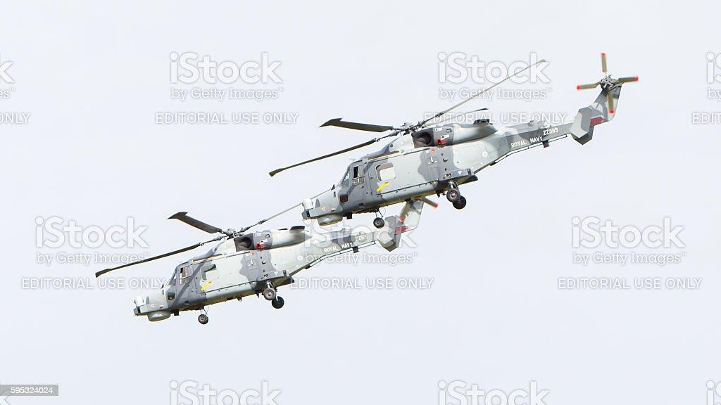 Royal Navy (Black Cats Display Team) stock photo