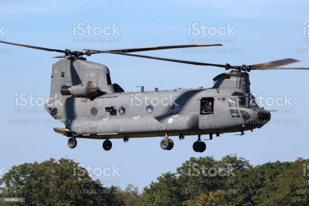 Royal Netherlands Air Force Boeing CH-47F Chinook helicopter stock photo