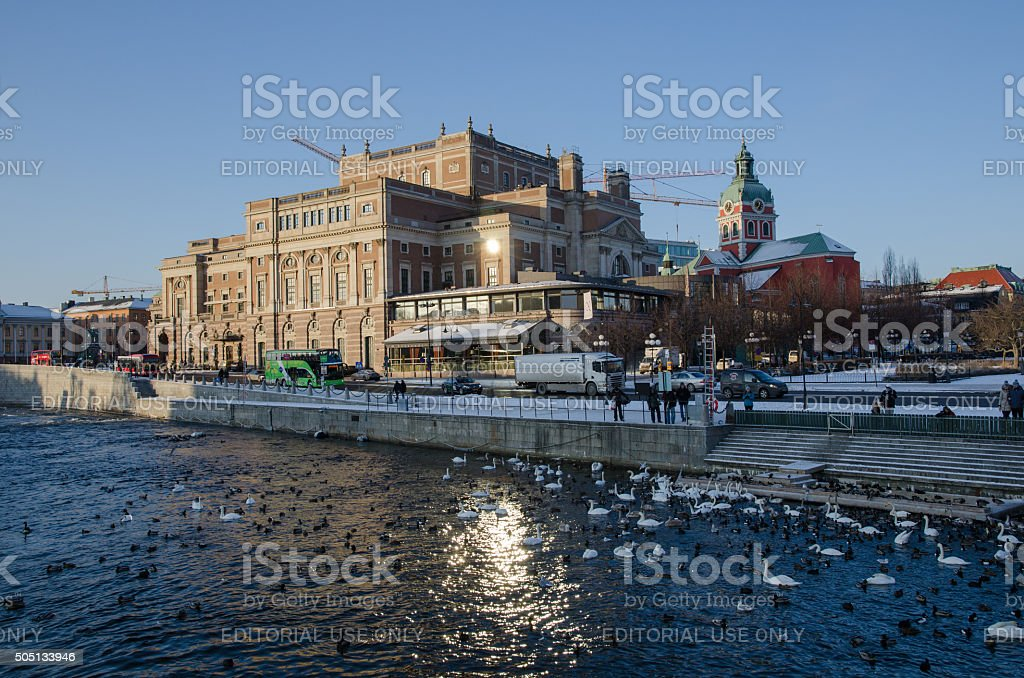 Royal Opera House in Stockholm stock photo