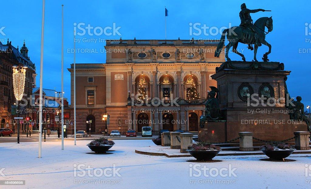 Royal Opera in Stockholm, Sweden stock photo