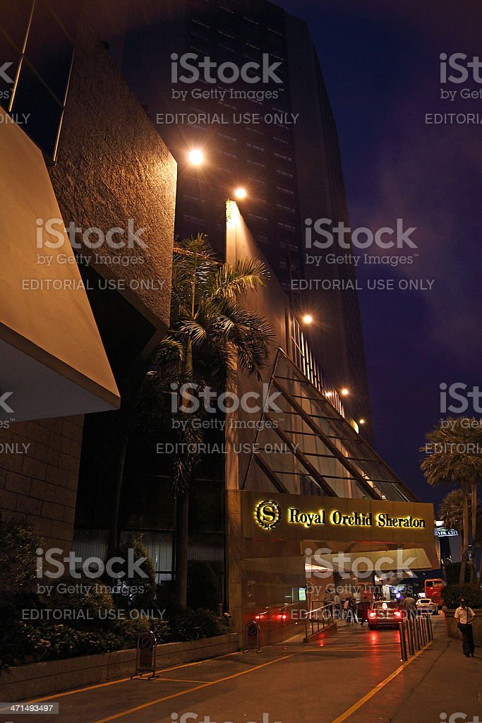 Royal Orchid Sheraton Hotel royalty-free stock photo