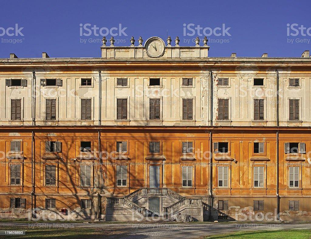 Royal Palace abandoned stock photo