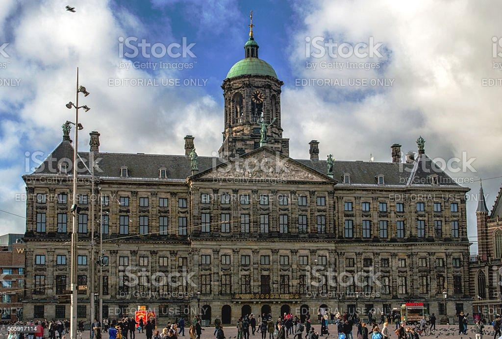 Royal Palace Amsterdam stock photo