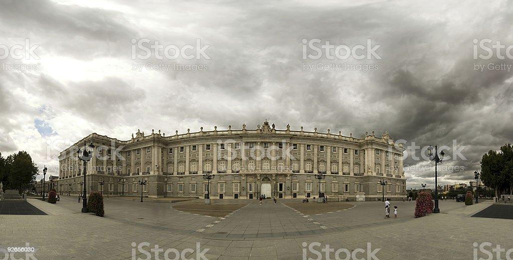 Royal palace and Storm, Madrid royalty-free stock photo